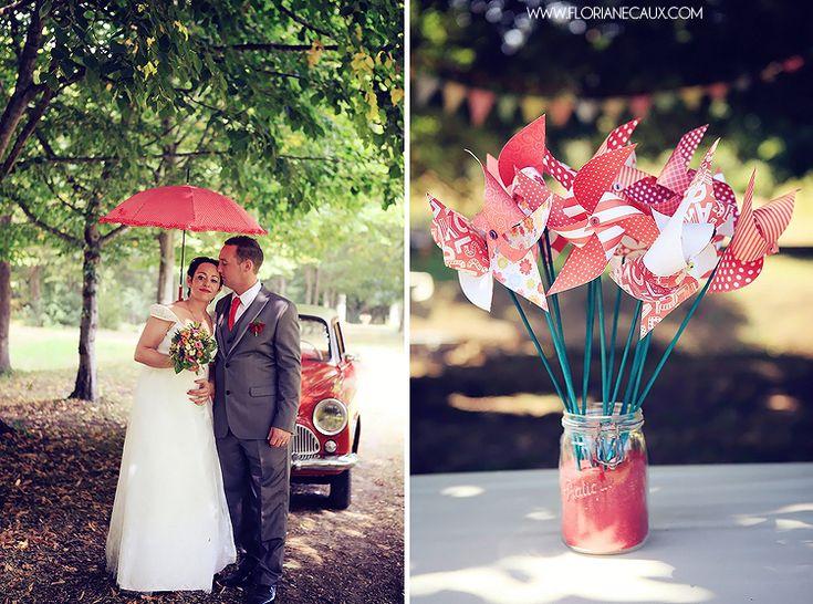 touches de rouge  idées déco mariage  Pinterest