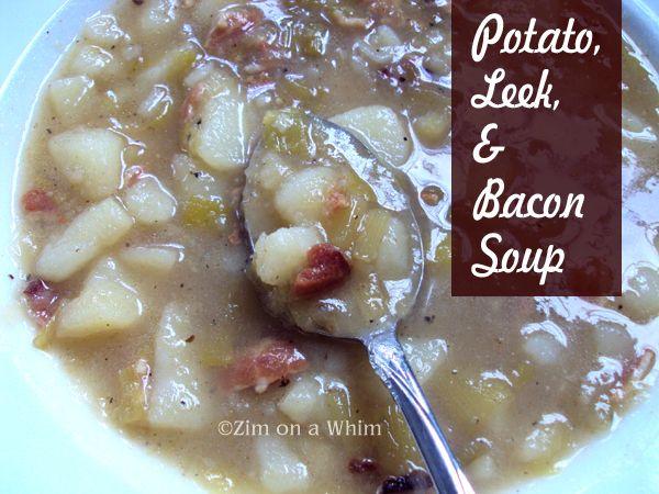 Potato, Leek, & Bacon Soup | Food | Pinterest