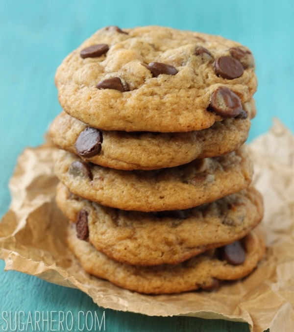 Peanut Butter Banana Chocolate Chip Cookies - From Sugarhero.com