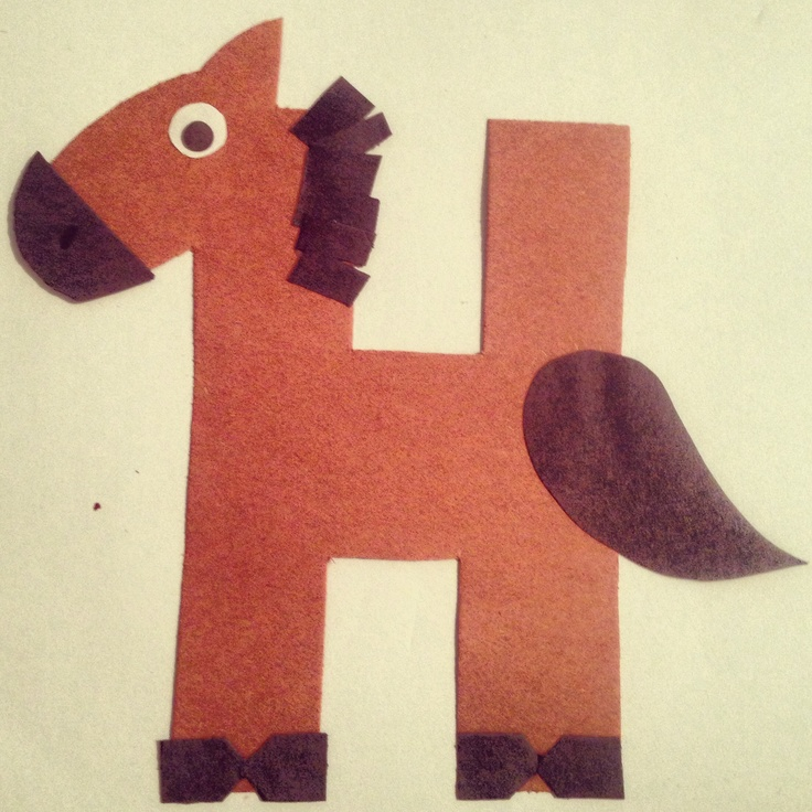 Letter H Preschool Horse Crafts