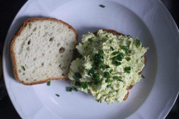 Caper-Chive Deviled Egg Sandwiches | Food and Drink | Pinterest