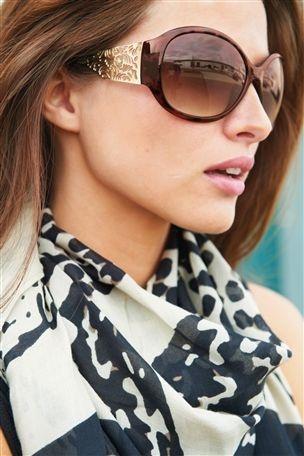 tortoiseshell effect filigree large sunglasses wish list