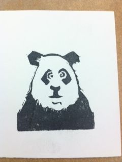Panda carved with the Undefined carving kit