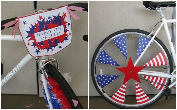 bike decorations 4th of july