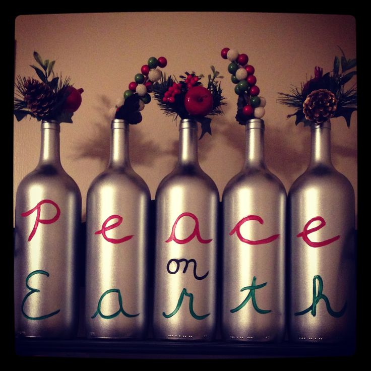 My christmas wine bottle crafts holiday birthday for Christmas craft ideas with wine bottles