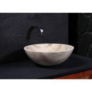 Stone Usa Sinks : Virtu USA Nyx Natural Stone Vessel Sink in Beige-VST-2133-BAS at The ...