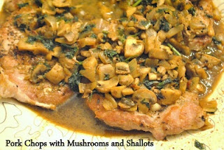 pork chops with mushrooms and shallots | whats for dinner? | Pinterest