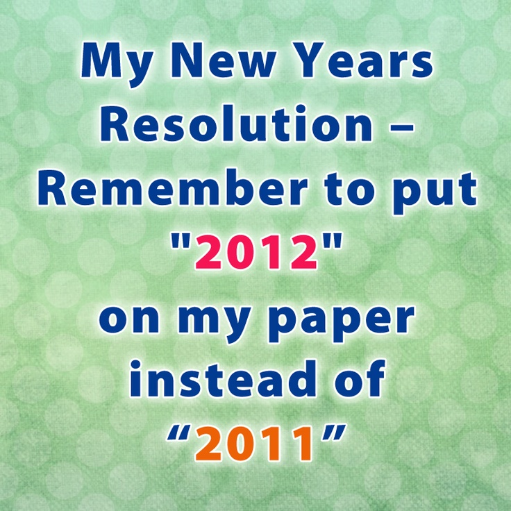my new year resolution writing paper