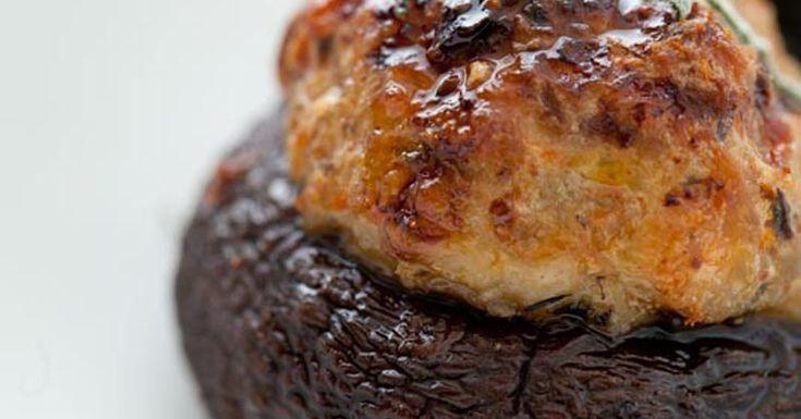 Turkey Sausage Stuffed Mushrooms | Recipe