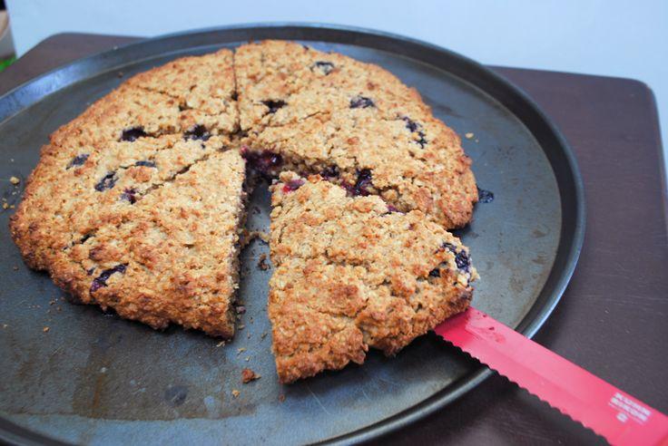 Meyer lemon and blueberry oat scones