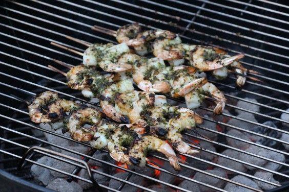 Grilled Pesto Shrimp Skewers | The Defined Dish