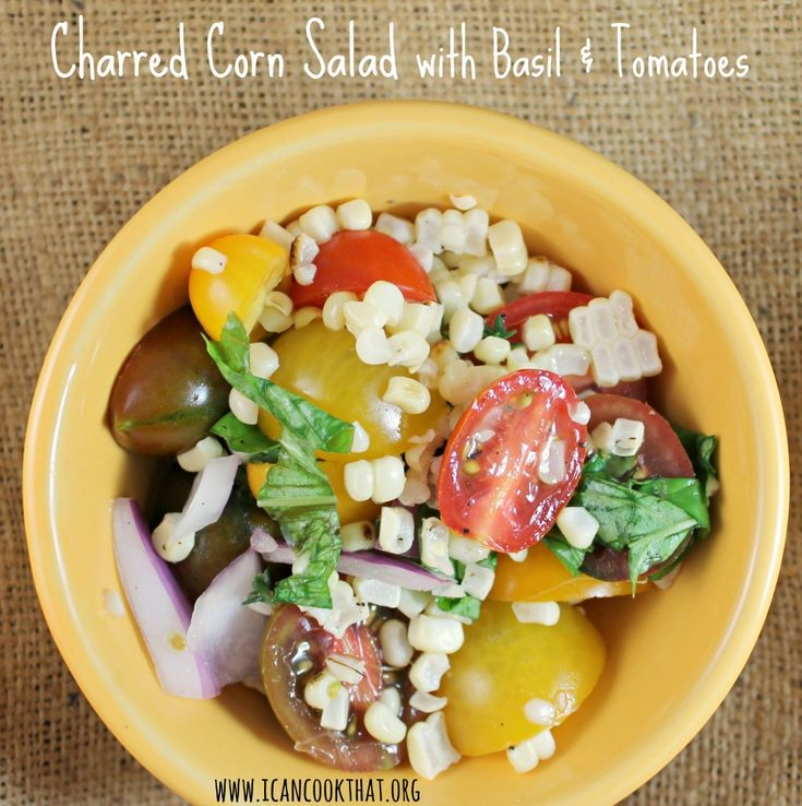Charred And Herbed Corn Salad With Crab Recipe — Dishmaps