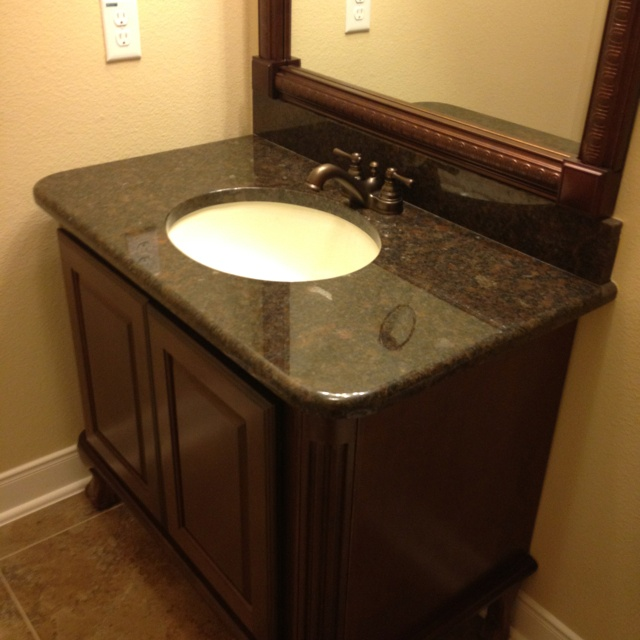 Powder room vanity bathroom ideas pinterest for Powder room bathroom vanities