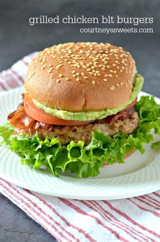 Grilled Chicken Burgers Recipe — Dishmaps