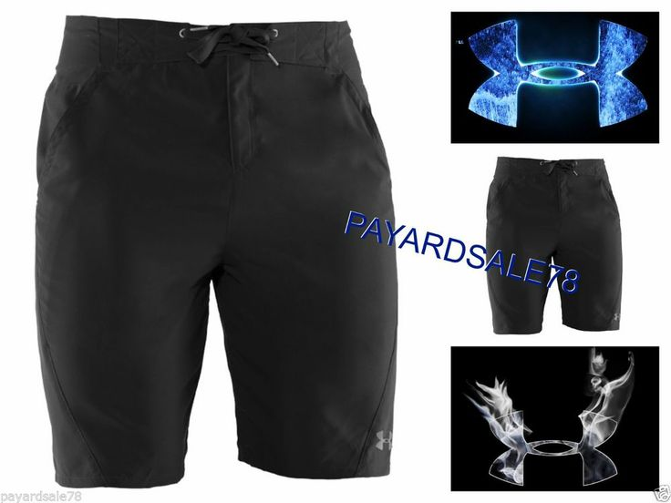 Men 39 s size 40 under armour black board shorts fishing boat for Under armour fishing shorts