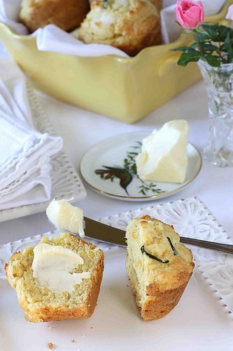 Corn Muffins with Poblano Peppers, Fresh Corn & Queso Fresco Cheese