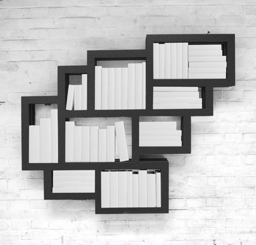 Dutch designer Gerard de Hoop created Frames Wall as a wall-mounted shelf suitable for books or any other trinkets you may have. The design is made up of square- and rectangular-shaped spaces that make it easier to store books made of various heights. Not all book sizes are the same so why should the shelves be?