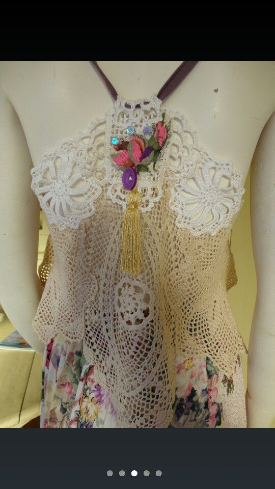 Upcycled doily top   Inspiration DIY clothing   Pinterest