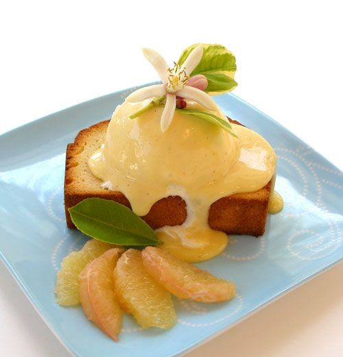 TOASTED POUND CAKE WITH GRAPEFRUIT AND VANILLA CURD by Sarah