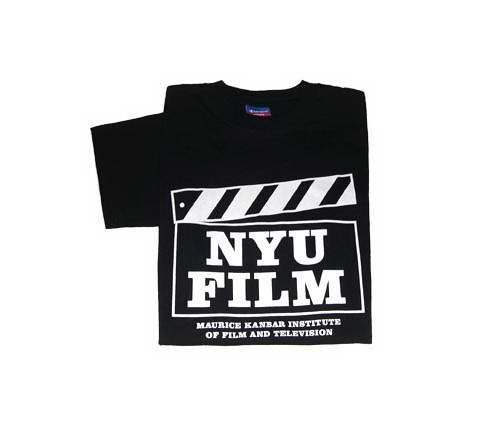 """shirt with """"NYU Film, Maurice Kanbar Institute of Film and Television ..."""