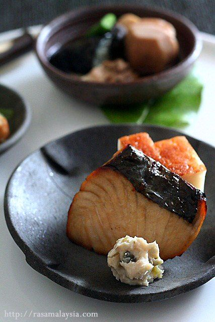 - rice, miso soup, toasted seaweed sheets (nori), pickled vegetables ...