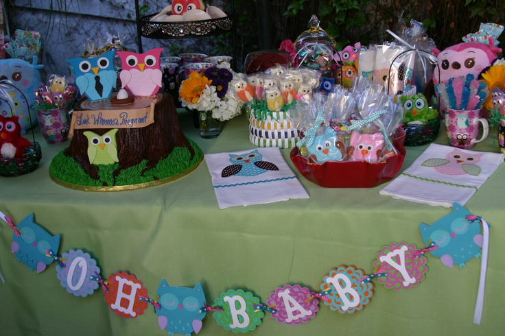 julie 39 s owl themed baby shower owl theme pinterest