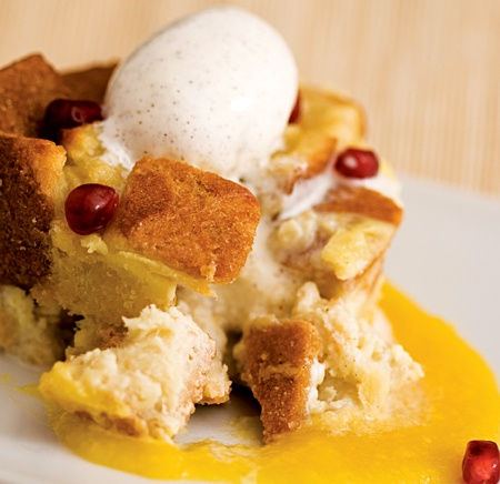 Bread Pudding with Mango Sauce | Just Desserts | Pinterest