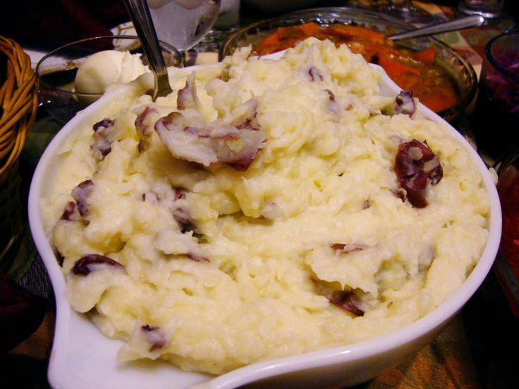 Red Garlic Mashed Potatoes | ¥Side Dishes | Pinterest