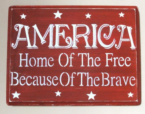 Primitive American America July 4th sign decoration by erinjt,