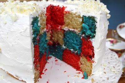 red white amp blue cake for queen elizabeth s diamond jubilee