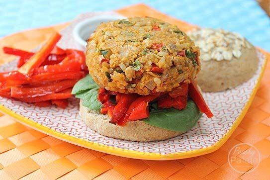 brown rice veggie burgers with tomato salad chickpea brown rice veggie ...