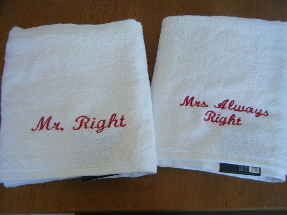 2nd Wedding Anniversary Ideas Cotton : Wedding or Anniversary Towels, Cotton Anniversary - 2nd Anniversary ...