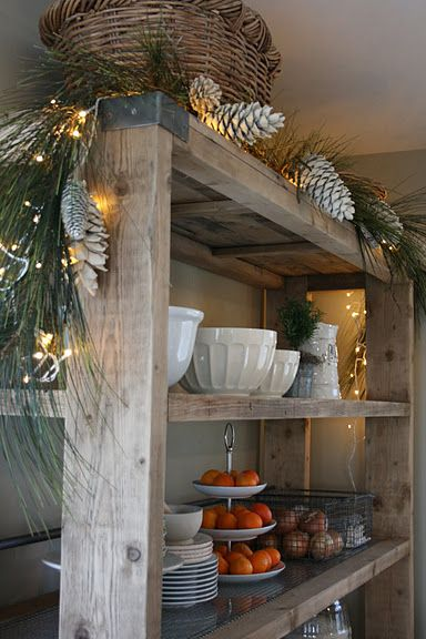 rustic dining room shelves wood crafts pinterest