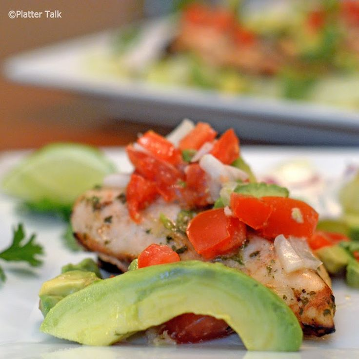 Cilantro-Lime Grilled Chicken with Avocado Salsa #chicken, #grilled, # ...