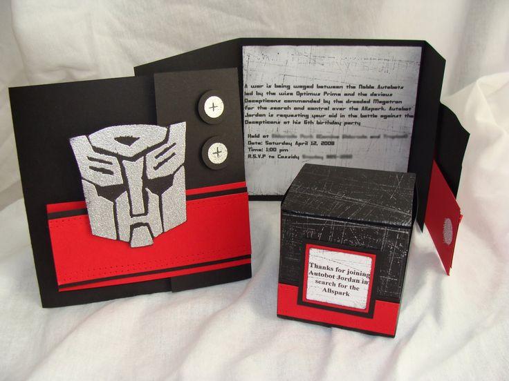 Transformer Invitations was adorable invitations sample