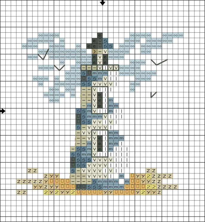 Что значит маяк в вышивке 48