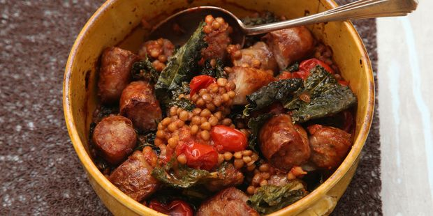 Lentils Tomato, Sausage and Cavolo Nero | Marvellous Meat, Poultry an ...