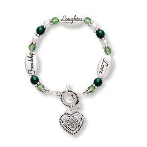 Love Laughter Friendship CELTIC KNOT Irish Pride Expressively Yours Bracelet