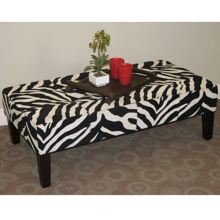 Tebogo Zebra Coffee Table Or Ottoman Zebra Print Pinterest