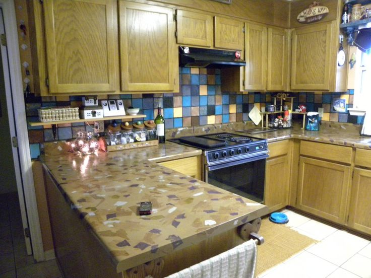 easy inexpensive diy kitchen countertops