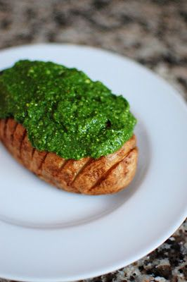 Hasselback Potatoes with Spinach Pesto | Beantown Baker