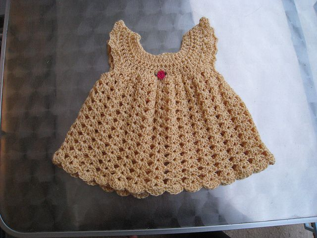 Free Crochet Angel Wing Dress Pattern : Cute Baby Crochet Dress http://www.ravelry.com/patterns ...