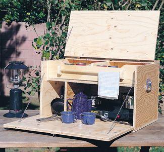 Plywood camp kitchen box.