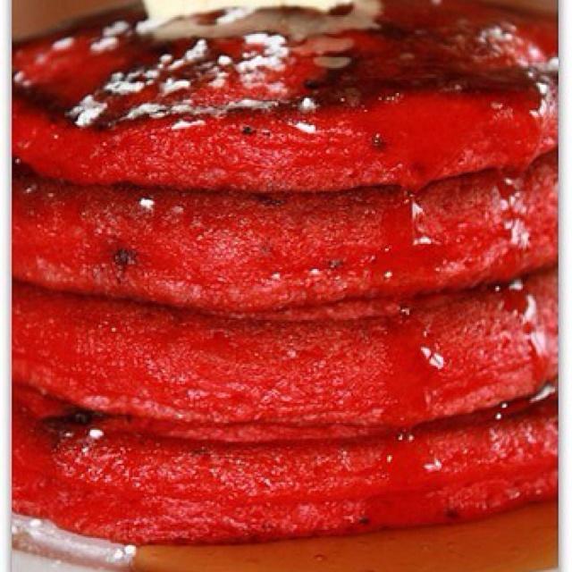 Red velvet pancakes | Recipes(: | Pinterest