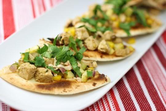 Chicken and Summer Vegetable Tostadas | cooking good | Pinterest