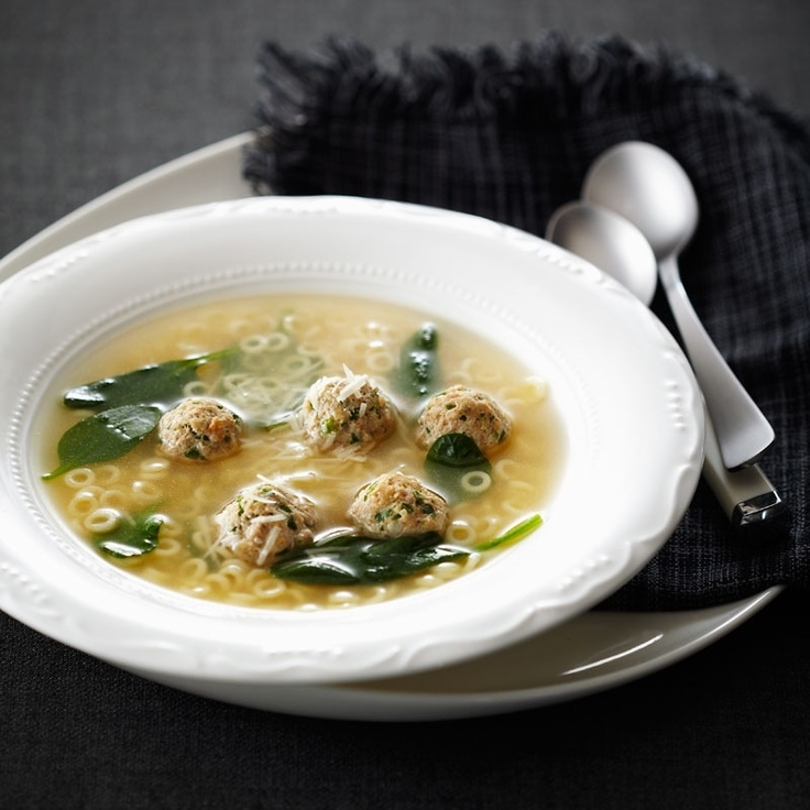 Italian Wedding Soup with Chicken Meatballs | Recipe