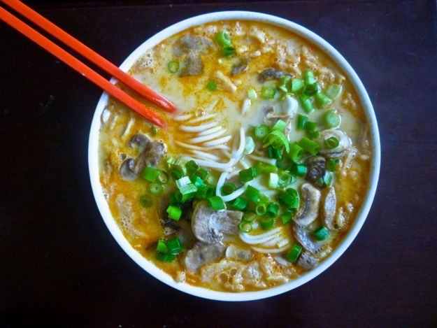 This coconut curry noodle soup is quick and easy--the perfect lunch at ...