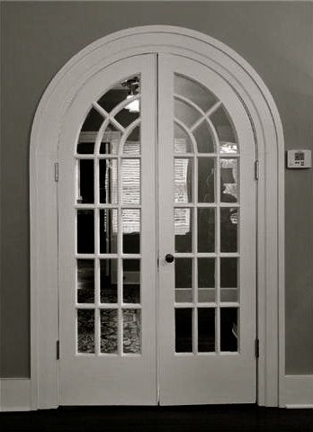 Pretty arched french doors design details pinterest for Arched french doors