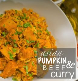 Asian Pumpkin and Beef Curry #pumpkineverythingseason