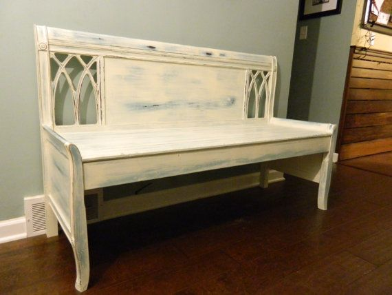 Wooden Bench Church Pew Shabby Chic Annie Sloan Chalk Paint Prove